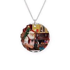 Santa's Two Pugs (P1) Necklace