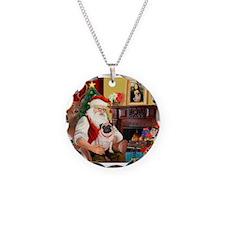 Santa's fawn Pug (#21) Necklace