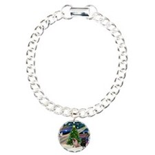 X Mas Magic & Pug Pair Bracelet