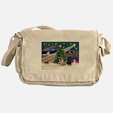 X Mas Magic & Pug Pair Messenger Bag