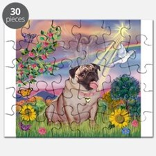 Cloud Angel & Fawn Pug Puzzle