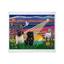Pug Magical Night Throw Blanket