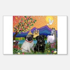Fantasy Land / Two Pugs Decal