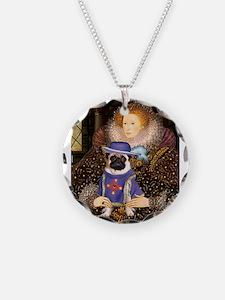 Queen & Sir Pug Necklace