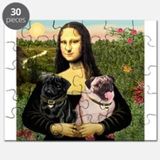 Mona & her 2 Pugs Puzzle