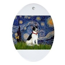 Starry Night / Rat Terrier Ornament (Oval)