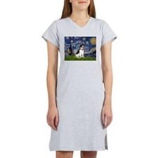 Starry Night / Rat Terrier Women's Nightshirt