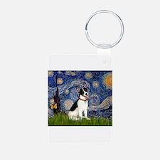 Starry Night / Rat Terrier Keychains