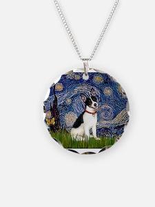 Starry Night / Rat Terrier Necklace