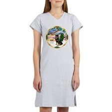 XmasMagic/ Rottie #3 Women's Nightshirt