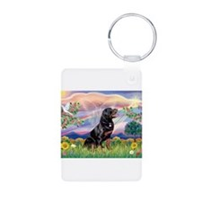 Cloud Angel & Rottweiler Keychains