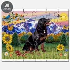 Rottie in Mt. Country Puzzle