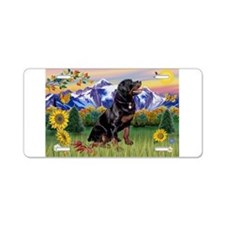 Rottie in Mt. Country Aluminum License Plate