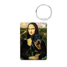 Mona Lisa & Rottie Keychains