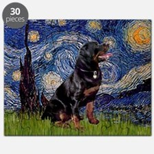 Starry Night & Rottweiler Puzzle