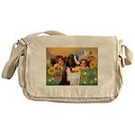 Two Angels & Saint Bernard Messenger Bag