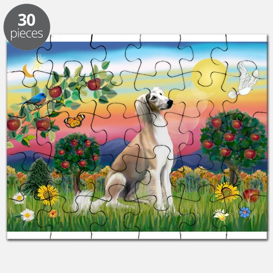 Bright Country with Saluki Puzzle