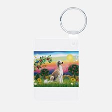 Bright Country with Saluki Keychains