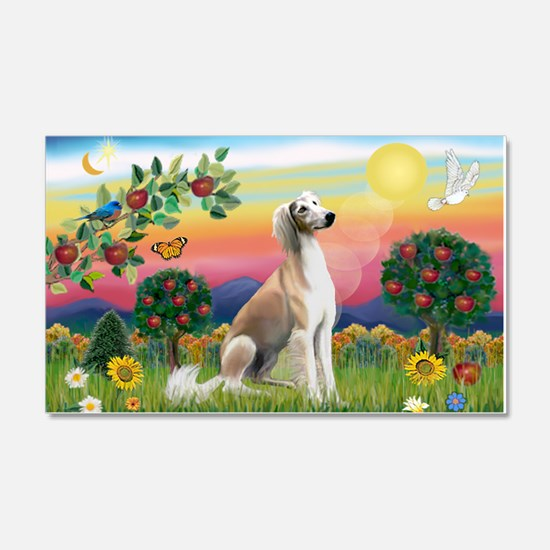 Bright Country with Saluki Wall Decal