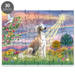Cloud Angel & Saluki Puzzle