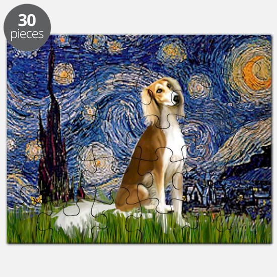 Starry Night & Saluki Puzzle