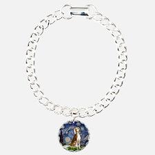 Starry Night & Saluki Bracelet