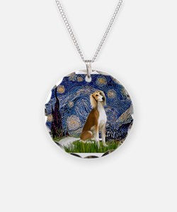 Starry Night & Saluki Necklace