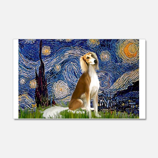 Starry Night & Saluki 22x14 Wall Peel