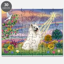 Cloud Angel & Samoyed Puzzle
