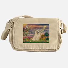Cloud Angel & Samoyed Messenger Bag