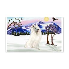 Snow Country / Samoyed 22x14 Wall Peel