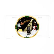 Night Flight/Schipperke Aluminum License Plate