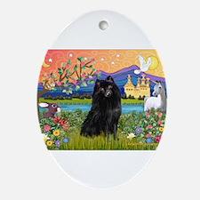 Fantasy Land Schipperke Ornament (Oval)