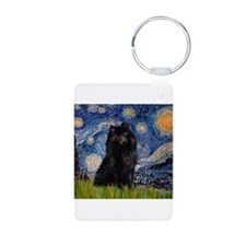Starry Night Schipperke Keychains