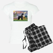 Cloud Angel & Giant Schnauzer Pajamas