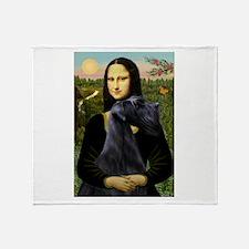 Mona & Giant Schnauzer Throw Blanket