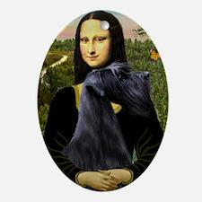 Mona & Giant Schnauzer Ornament (Oval)