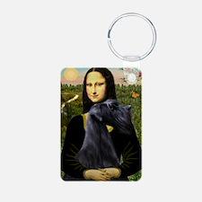 Mona & Giant Schnauzer Keychains