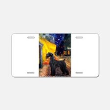 Cafe & Giant Schnauzer Aluminum License Plate