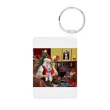 Santa's Schnauzer (9) Keychains