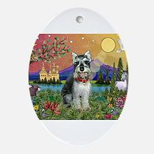 Schnauzer #8 in Fantasyland Ornament (Oval)