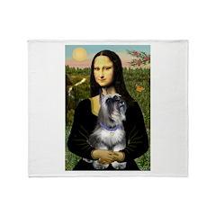 Mona & her Schnauzer Throw Blanket