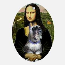 Mona & her Schnauzer Ornament (Oval)
