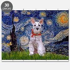 Starry Night Schnauzer Puzzle