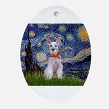 Starry Night Schnauzer Ornament (Oval)