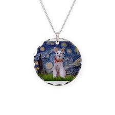 Starry Night Schnauzer Necklace