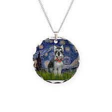 Starry Night & Schnauzer Necklace