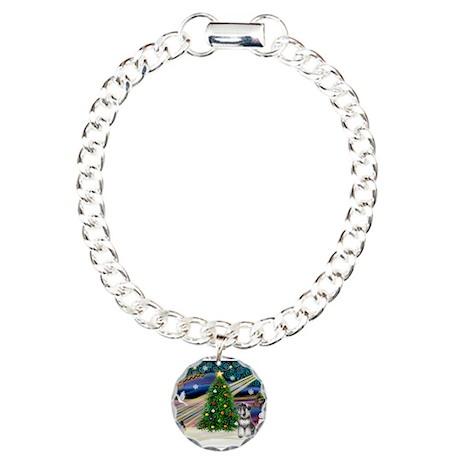 Xmas Magic-Schnauzer (nat) Charm Bracelet, One Cha