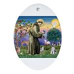 St Francis & Schnauzer (#5) Ornament (Oval)