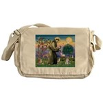 St Francis & Schnauzer (#5) Messenger Bag